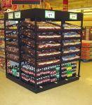 End Cap Bread and Beverage Display