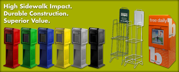 Publication Displays RFC Wire Forms Inc ECW Base Cart Delectable Outdoor Magazine Holder